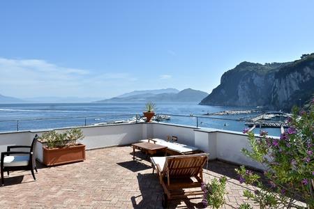 balcony view: Balcony view of Capri Stock Photo