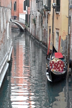 venician: Charming canal in Venice Stock Photo