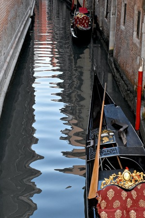 venician: Venice water canal with gondola