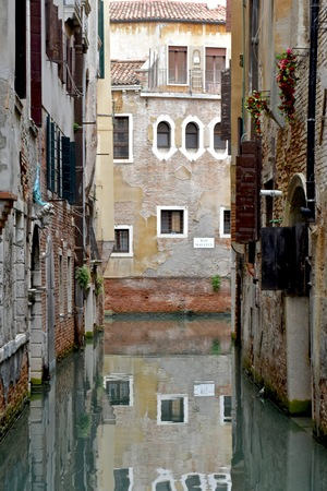 venician: Venice canal and house Stock Photo