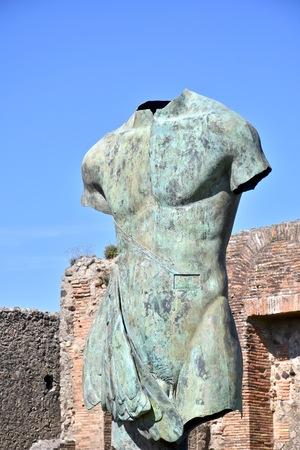 roma antigua: estatua de la Antigua Roma Foto de archivo