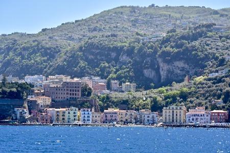 Amalfi coast landscape Stock Photo