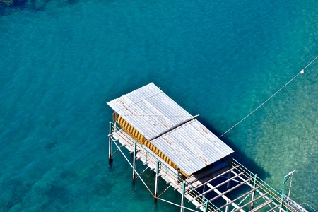 Boat dock on the Amalfi coast Stock Photo
