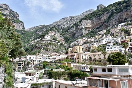 positano: Beautiful town of Positano Italy Stock Photo