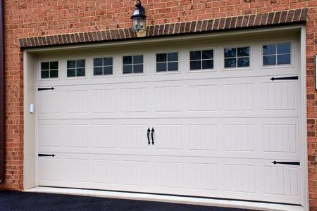 Garage door on town house