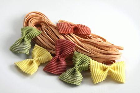 Preparation of colored pates Stock Photo