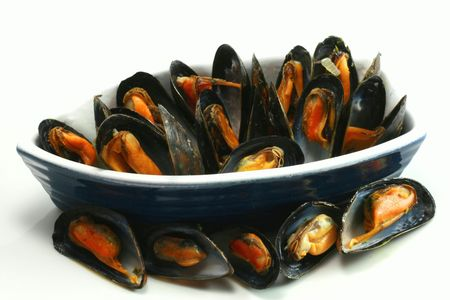Plate of mussels photo