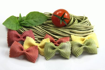 starchy food: Varieties of pates with various colors