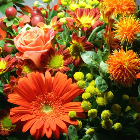 Bouquet at a florist Stock Photo