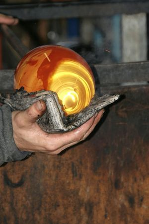 glassblower: Glass-blower in action