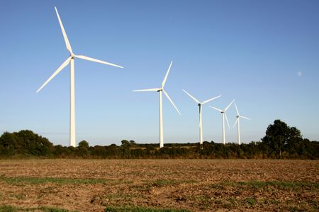 pales: Wind turbines in the French countryside