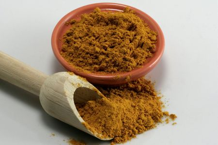 echange: Saffron yellow spices Stock Photo
