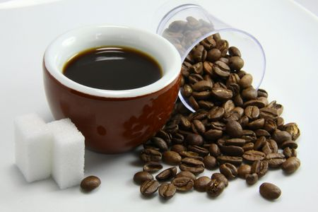 echange: Tasting of coffee Stock Photo