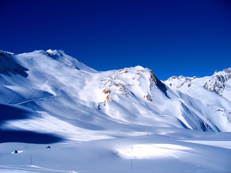 Landscape of high Savoy in winter Stock Photo - 8284590
