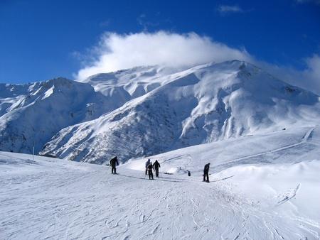Landscape of mountain in winter