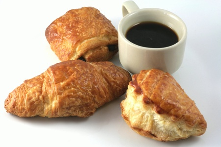 echange: Have breakfast in France Stock Photo