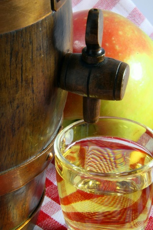 Alcohol of apple, speciality of France photo
