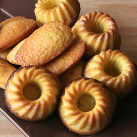 Preparation of cakes and traditional madeleines Stock Photo
