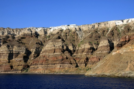 Santorin Santorini - magnificent landscapes of the Cyclades Stock Photo