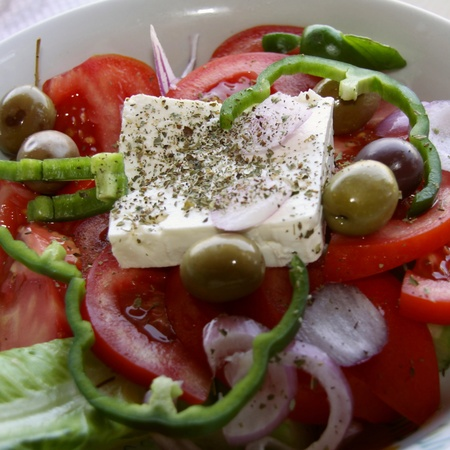 Greek salad - Speciality Stock Photo