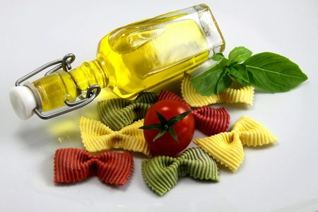 starchy food: Preparation of pates - pasta before a meal