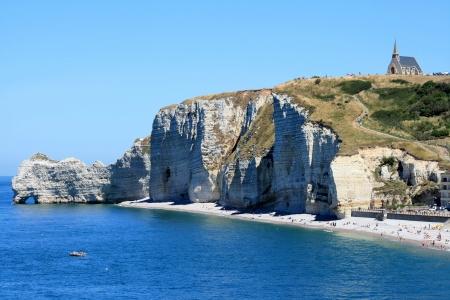 a bathing place: Landscape of Etretat