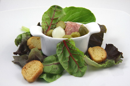 snout: Snout of beef and salad
