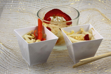 Soya and red hot pepper Stock Photo