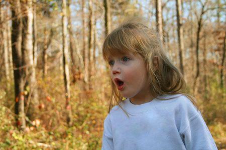 awe: Little girl in awe