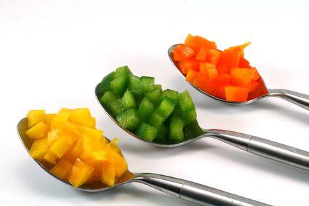 sautee: Pepper riempito cucchiai