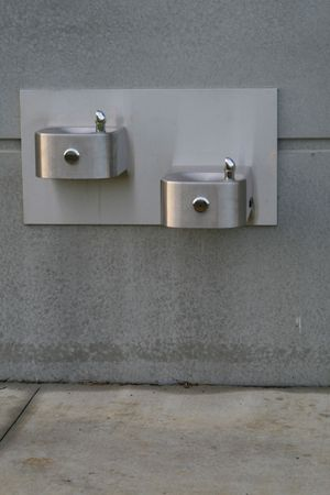 industrial park: A public water fountain at a park