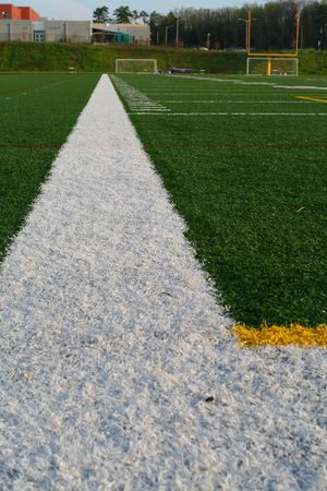 yardline: Boundary lines on a football field Stock Photo