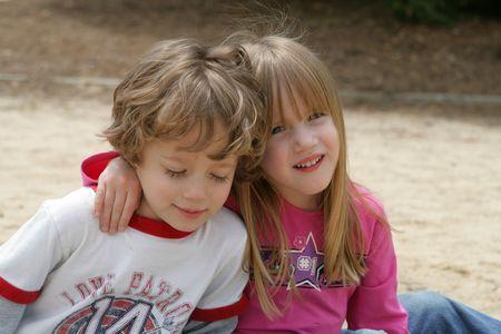 the sandbox: 2 kids in the sandbox