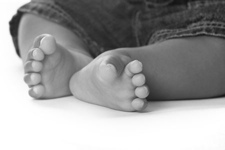 cropped shots: Just the feet Stock Photo