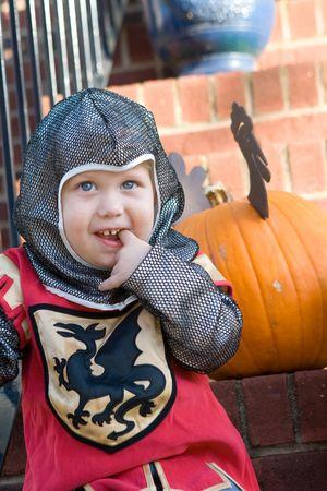 Boy in his halloween costume photo