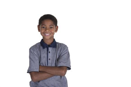 garcon africain: Jeune homme sur blanc
