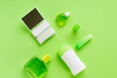 Hygienic cosmetics set for skin freshness. 版權商用圖片