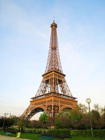 Paris Eiffel Tower Stock Photo