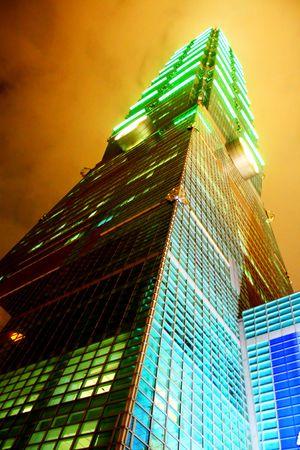 Taipei 101 b�timent plus dans le monde. Banque d'images