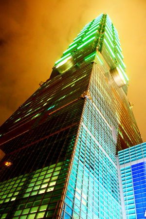 Taipei 101 Building Tallest in the world Stock Photo