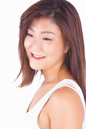 Belle fille de l'isolement portrait asiatique