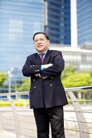 D'affaires asiatique portrait souriant