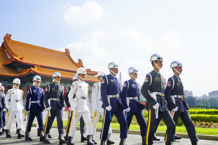 Army marching in Taiwan Editorial