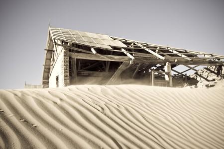 kolmanskop: Ghost town of Komanskop in Luderitz, Namibia Stock Photo