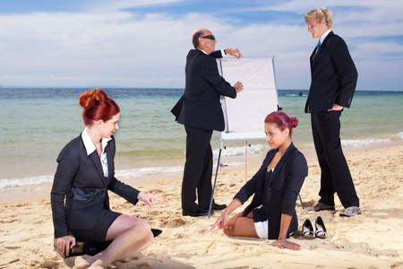 Meeting on the beach photo