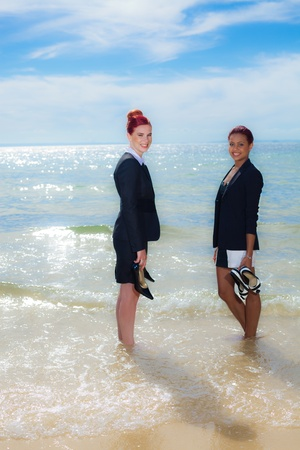 Business on the beach Stock Photo - 11423608