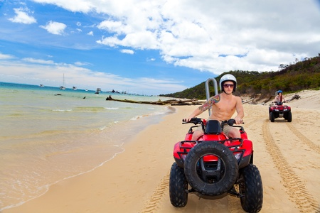 quad: ATV beach Editorial