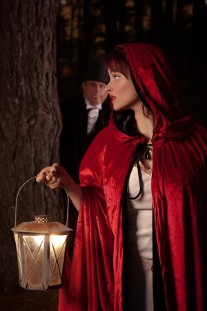 Czerwony Kapturek Zdjęcie Seryjne