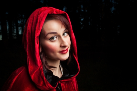 Portrait of little red riding hood photo