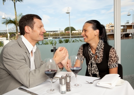 couple dining: Lunch